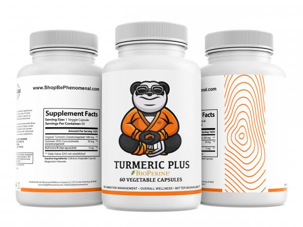 Natural Turmeric plus BioPerine Product image