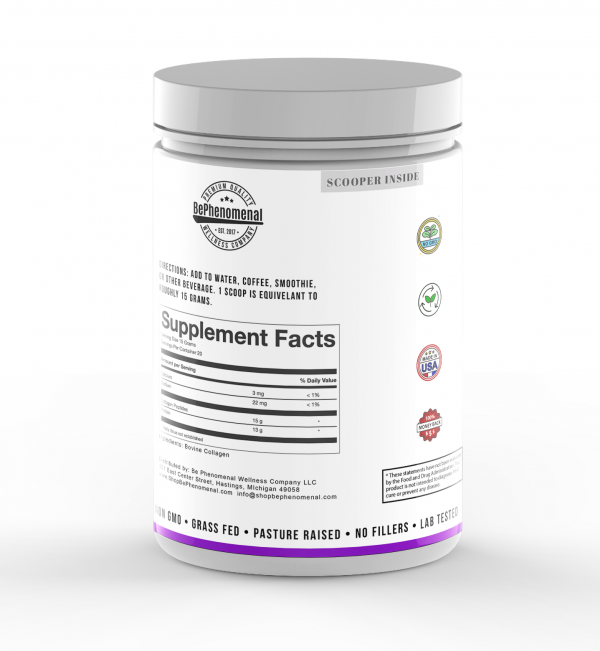 Official Collagen Peptide Powder Product Label