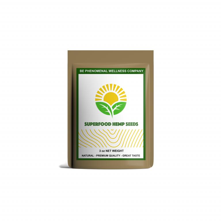 Superfood hemp seed mockup